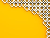 Teste padrão alaranjado abstrato Art Background das formas Imagens de Stock Royalty Free