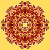 Teste padrão alaranjado brilhante arredondado Fotografia de Stock Royalty Free