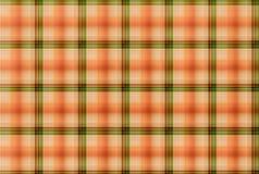 Teste padrão alaranjado e verde da tartã - tabela da roupa da manta Imagens de Stock Royalty Free