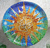 Teste padrão aleatório do mosaico Imagem de Stock Royalty Free