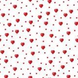 Teste padrão aleatório dos corações Imagens de Stock
