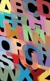 Teste padrão alfabético, consistindo todos os caráteres principais em ABC ilustração stock