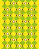 Teste padrão amarelo abstrato Fotos de Stock