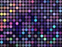 Teste padrão amarelo azul lilás do mosaico dos pontos do Glitz Fundo colorido das luzes ilustração royalty free
