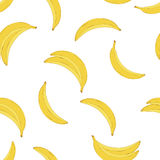 Teste padrão amarelo da banana Fotos de Stock