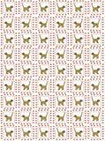 Teste padrão amarelo do gato Imagens de Stock Royalty Free