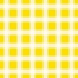 Teste padrão amarelo do guingão, ilustração sem emenda do vetor do fundo Imagem de Stock