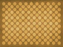 Teste padrão amarelo dos círculos do vintage Foto de Stock