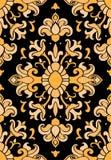 Teste padrão amarelo e preto Foto de Stock Royalty Free