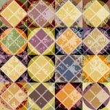 Teste padrão amarelo geométrico do Grunge Fotos de Stock