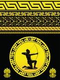 Teste padrão amarelo grego Fotos de Stock