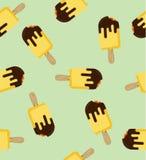 Teste padrão amarelo mordido do gelado da vara ilustração stock