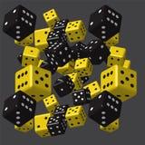 Teste padrão amarelo preto dos dados Imagem de Stock Royalty Free
