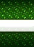 Teste padrão amarelo verde com vetor vazio da listra do texto Imagem de Stock