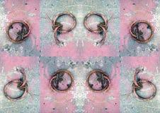 Teste padrão - anéis oxidados Imagem de Stock