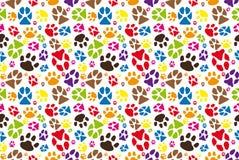 Teste padrão animal da pata Fotos de Stock Royalty Free