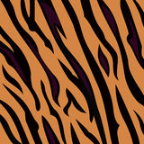 Teste padrão animal do fundo - textura da pele do tigre Foto de Stock Royalty Free