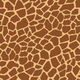 Teste padrão animal do vetor da cópia do girafa escuro fotografia de stock