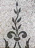 Teste padrão antigo da telha de mosaico da planta fotografia de stock royalty free