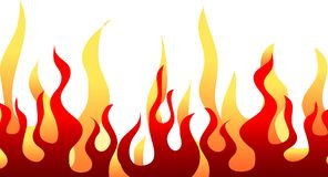 Teste padrão ardente vermelho da flama ilustração stock
