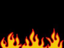 Teste padrão ardente vermelho da flama Fotografia de Stock