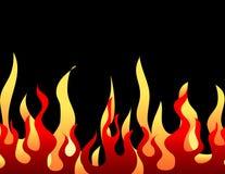 Teste padrão ardente vermelho da flama ilustração do vetor