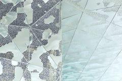 Teste padrão arquitetónico da ilustração 3D abstrata Fotos de Stock Royalty Free
