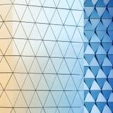 Teste padrão arquitetónico da ilustração 3D abstrata Fotografia de Stock Royalty Free