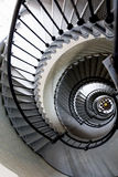 Teste padrão arquitetónico de uma escadaria espiral Imagem de Stock Royalty Free