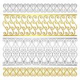 Teste padrão artístico do sumário do damasco da cerca do vetor Fotografia de Stock Royalty Free