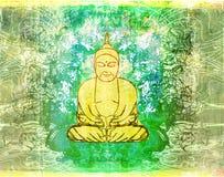 Teste padrão artístico tradicional chinês do Buddhism ilustração stock