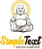 Teste padrão artístico tradicional chinês do Buddhism Fotografia de Stock