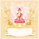 Teste padrão artístico tradicional chinês do budismo Fotografia de Stock Royalty Free