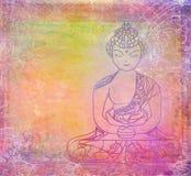 Teste padrão artístico tradicional do budismo ilustração stock