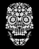 Teste padrão assustador do crânio Imagem de Stock Royalty Free