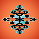 Teste padrão asteca da inspiração de matéria têxtil do Navajo Indian do nativo americano Fotos de Stock Royalty Free