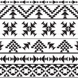 Teste padrão asteca preto e branco sem emenda Imagem de Stock Royalty Free