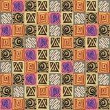 Teste padrão asteca sem emenda Imagem de Stock