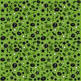 Teste padrão atípico infinito em um fundo verde Imagem de Stock