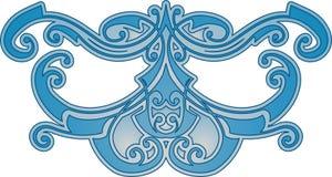 Teste padrão azul abstrato Imagens de Stock Royalty Free