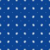 Teste padrão azul com ornamento branco ilustração do vetor