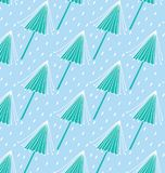 Teste padrão azul da árvore Foto de Stock
