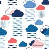 Teste padrão azul da chuva Foto de Stock Royalty Free