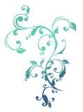 Teste padrão azul da flor e das videiras Foto de Stock Royalty Free