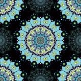 Teste padrão azul da mandala Imagem de Stock