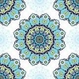 Teste padrão azul da mandala Fotografia de Stock Royalty Free
