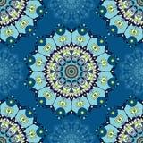 Teste padrão azul da mandala Imagens de Stock Royalty Free