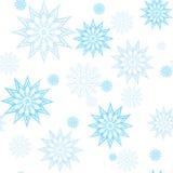 Teste padrão azul da mandala do floco de neve Fotos de Stock Royalty Free