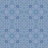 Teste padrão azul da neve Imagens de Stock Royalty Free