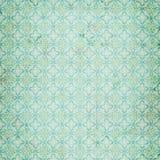 Teste padrão azul da repetição do damasco do vintage Imagens de Stock